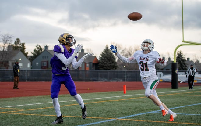 Fort Collins High School's Dontay Johnson, shown here in a March 26, 2021, game against Adams City, said he'll sign with Colorado State's football program as part of its 2022 recruiting class. He's the second Fort Collins High player to commit to the Rams in the past eight days, joining fellow defensive back and receiver Dorion McGarity.