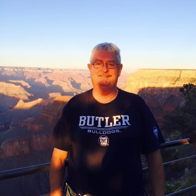 Durwin Griggs at the Grand Canyon repping his Bulldogs.