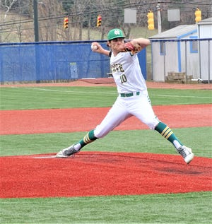 Newark Catholic senior pitcher Bryson Bell pitched seven scoreless innings in a 2-0 non-conference win over Berne Union on Saturday at Beavers Field.