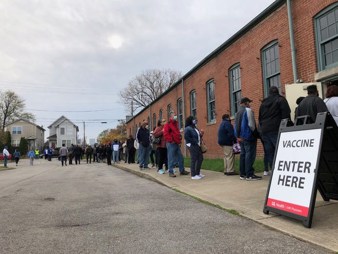 U of L Health, working with over 50 churches, held its largest single-day COVID-19 vaccination event Saturday, March 27, 2021, at the Kentucky Center for African American Heritage in west Louisville.