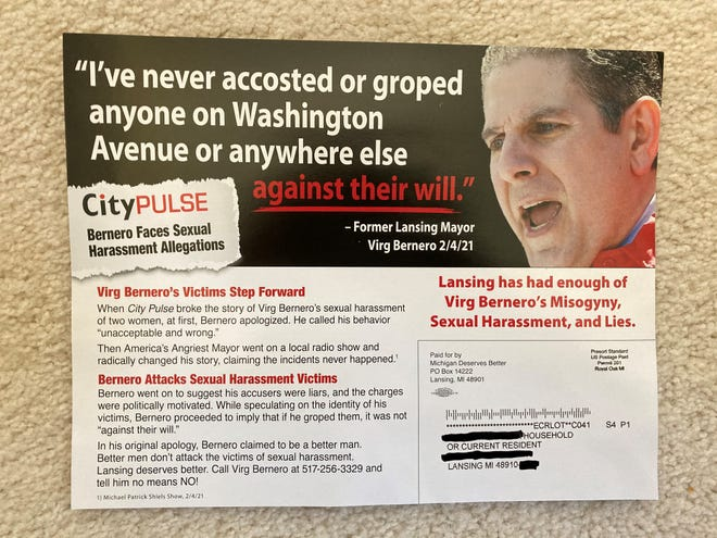 The nonprofit Michigan Deserves Better funded these mailers circulating in the city of Lansing.