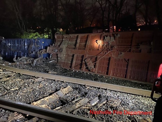 A train had 16 cars derail in Madison early Saturday morning.