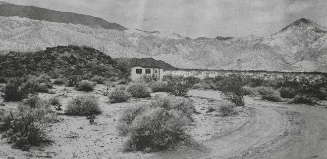 In this undated photo, Catherine Venn's homestead is seen in what is now Palm Desert.