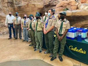 Cabela's in Glendale donated camping and cooking equipment to Troop 513 on March 27, 2021, after their camping and cooking equipment was stolen in December.