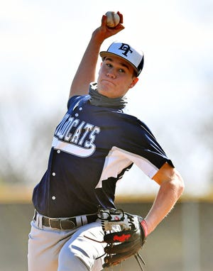 Evan Beach excelled on the mound and at the plate for Dallastown on Friday.