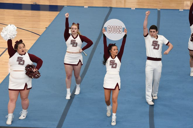 Stuarts Draft won the Shenandoah District cheer championship Saturday, March 27, at Staunton High School.