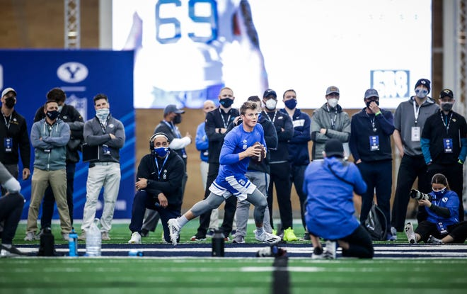 BYU quarterback cemented himself as a top five pick in the 2021 NFL Draft with his pro day workout Friday.