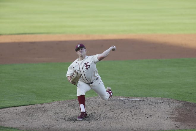 Parker Messick, here against Wake Forest, struck out a career-high 12 in Friday's 4-3 home defeat to UNC.