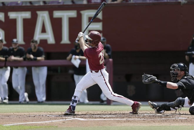 Reese Albert finished 2-for-3on the day, including a home run in 8-7 loss to Wake Forest on Saturday