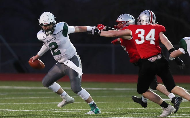 Somers defeated Brewster 28-0 in football action at Somers High School March 26,  2021.
