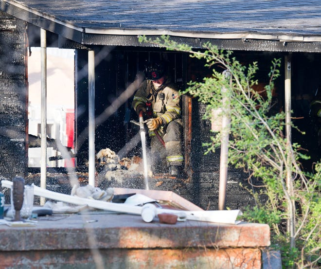 Wichita Falls firefighters worked the scene of a house fire Saturday morning on Thomas Avenue.