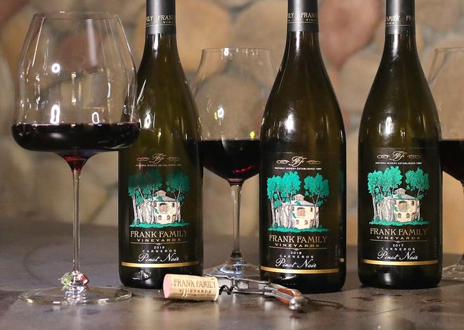 A vertical tasting of Frank Family pinot noir allows one to discover the subtle differences from three consecutive vintages.