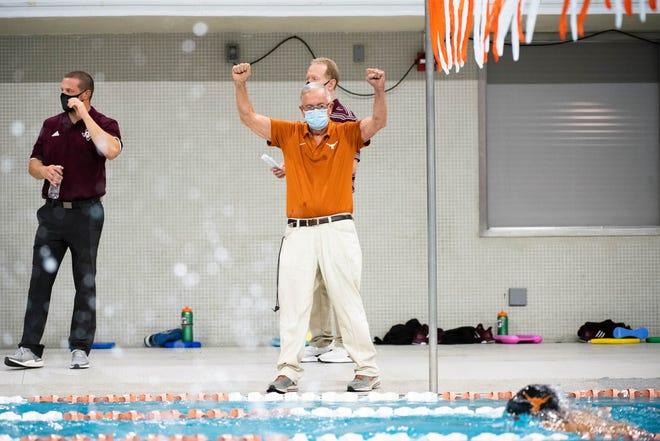 Texas men's swimming coach Eddie Reese, seen here earlier this season, won the school's 15th NCAA national championship on Saturday in Greensboro, N.C.