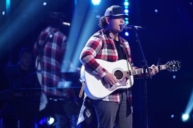 """Caleb Kennedy performs during """"American Idol"""" Hollywood Week."""
