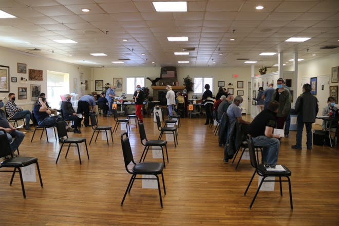 A COVID-19 vaccination clinic for local veterans was held Tuesday, March 23 at the Leominster Veterans' Memorial Center.