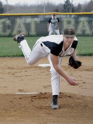 Northeast R-IV School at Cairo senior Bryce Taylor fanned 13 batters while tossing a complete game no-hitter Saturday when the Bearcats shutout Mark Twain winning 5-0 at home.