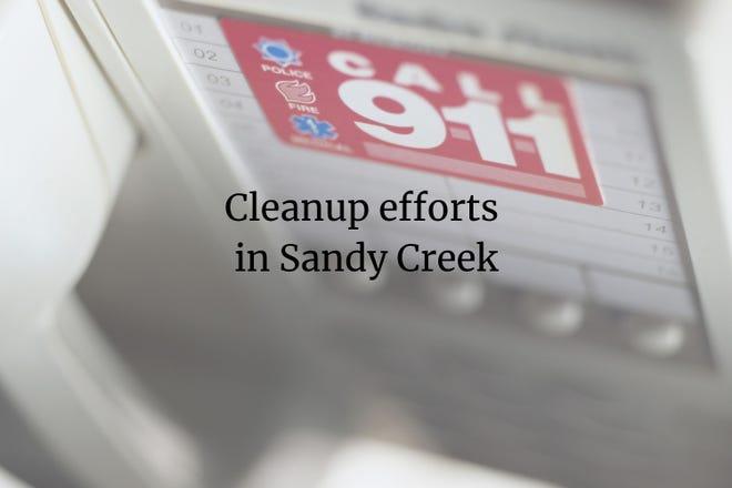Cleanup efforts in Sandy Creek
