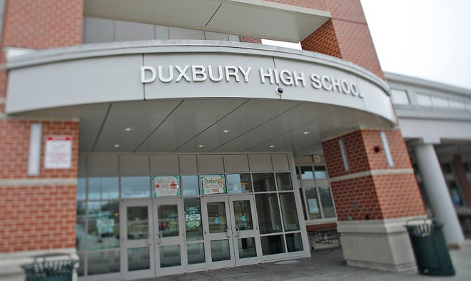 Duxbury High School and its football field on Sunday  March 28, 2021 Greg Derr/The Patriot Ledger