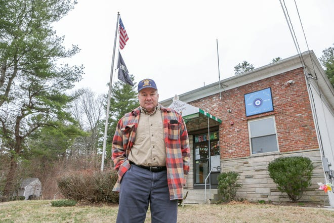"""""""The world is changing so we have to change with it,"""" says Bruce Iannuccillo, adjutant of the Balfour-Cole Post 64 of the American Legion in Smithfield, of efforts to expand membership."""