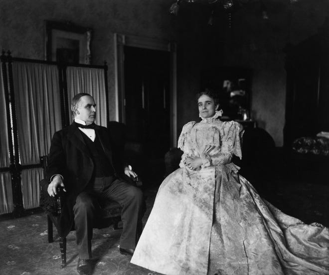 President William McKinley and First Lady Ida McKinley are pictured together in this undated photograph.