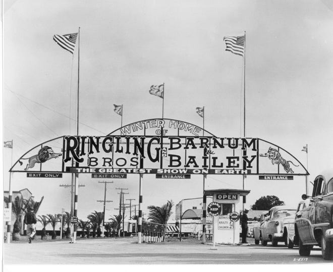 John Ringling brought the circus to Sarasota in 1927 to bolster the faltering economy, and provide work for the locals..