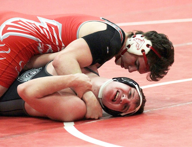 Constantine's Isaac Hall placed second overall at 189 pounds at regionals on Saturday.