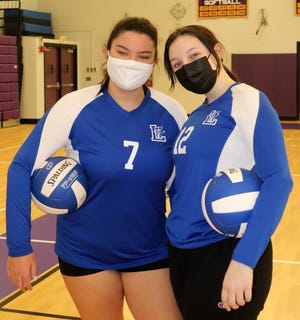 Shayla Nguyen, left, and Randee Wood are the senior captains for Leominster girls' volleyball.