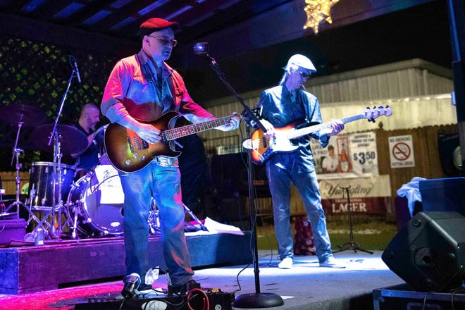 The Kenny Huffman band performing at Louie's Sports Pub. Saturday, March 27, 2021