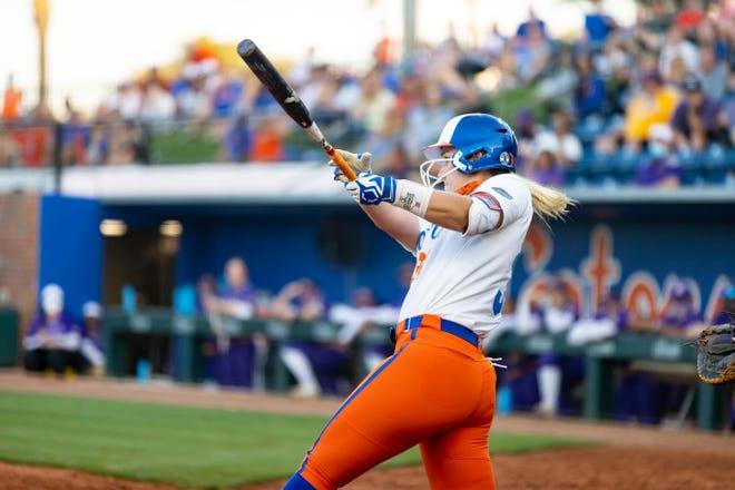 Florida's Kendyl Lindaman hit a home run Saturday against LSU at Katie Seashole Pressly Stadium.