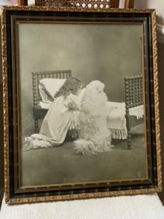 """This pictured titled """"Good Night""""  has a copyright on the bottom left that says """"Copyright 1902, R. Hill."""""""