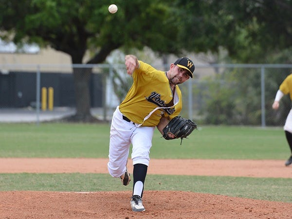 Senior Jay DiBacco faced three batters over the minimum during his two-hit shutout.