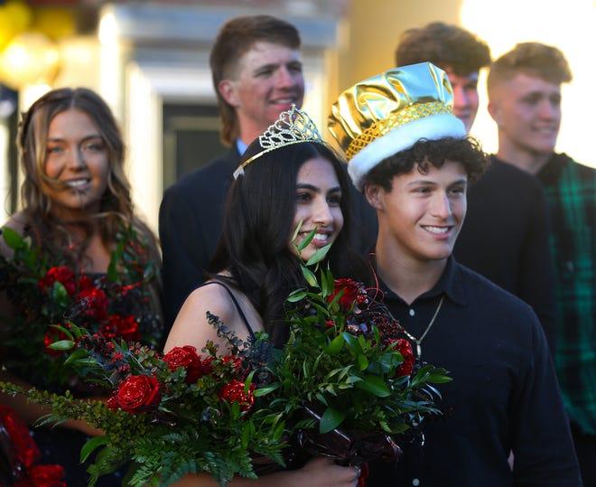 Taft Union High School homecoming queen and king Vinisha Keshov and Ilan Katz.