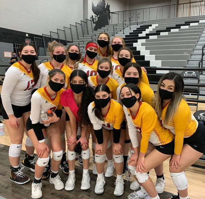 The Centennial volleyball team will be the No. 2 seed in this week's Class 5A state volleyball tournament.