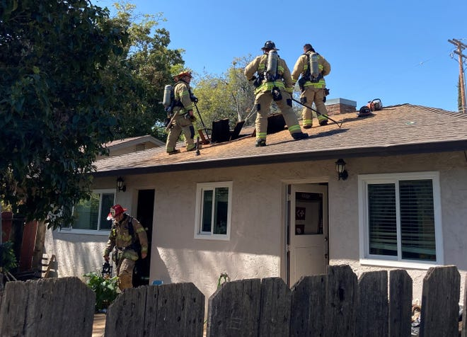 A fire did about $40,000 damage to a home on Echo Road in south Redding on Sunday.
