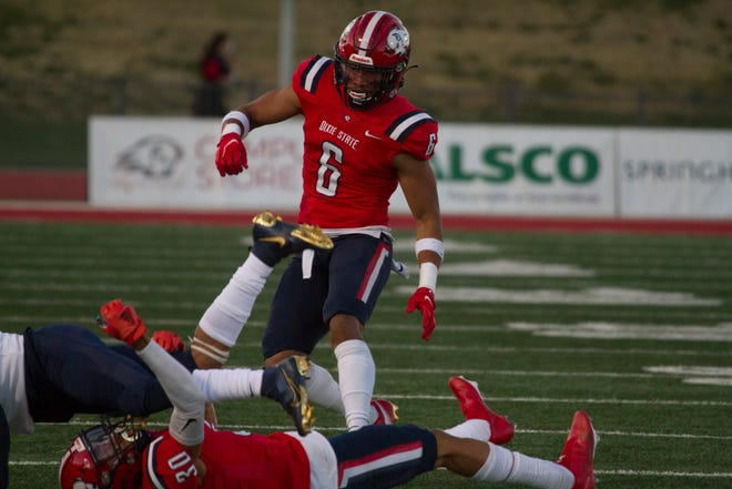Dixie State football defeats the Fort Lewis Skyhawks 60-0 Saturday, March 27, 2021. The Trailblazers missed out on big-money games in 2020 because of the COVID-19 pandemic, but the recent Division I addition has contracts with several big-name schools for the 2021 season and is set to receive some big paychecks.