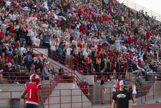 Dixie State football defeats the For Lewis Skyhawks 60-0 Saturday, March 27, 2021.