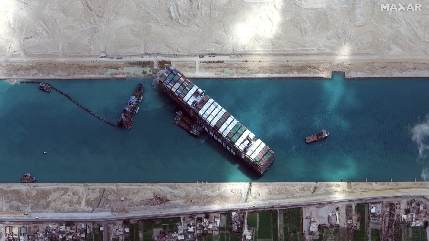 Suez Canal blockage: Vessel 'partially refloated' as workers resume pulling maneuvers