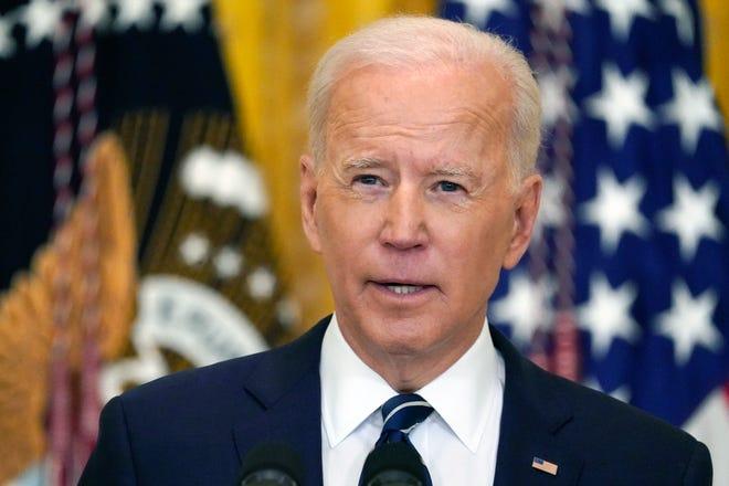 President Joe Biden on March 25, 2021, in Washington, D.C.