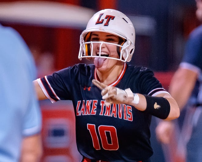 Emma Craver, a senior outfielder for Lake Travis, went 6-for-8 with three home runs, two doubles, eight RBIs and five runs scored to help the Cavs take wins over Bowie and Akins last week.