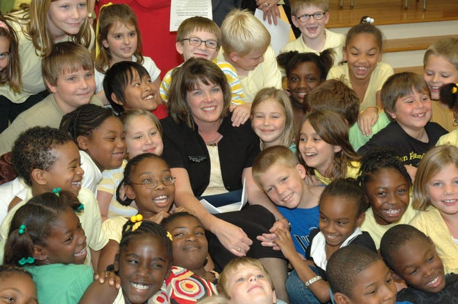 In 2008, Hampton Elementary School Principal Bonnie Wilson was the only educator from South Carolina to earn the Milken Foundation Educator Award. Wilson, who is pictured here with several excited HES students, would go on to become principal at Wade Hampton High School and then Director of Administration at Patrick Henry Academy.