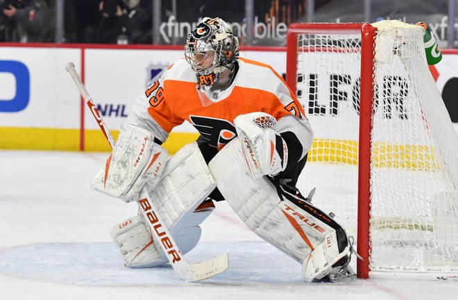 Flyers goaltender Carter Hart will sit out the next two games against the Buffalo Sabres while he tries to rebound from 8-9-3 record.