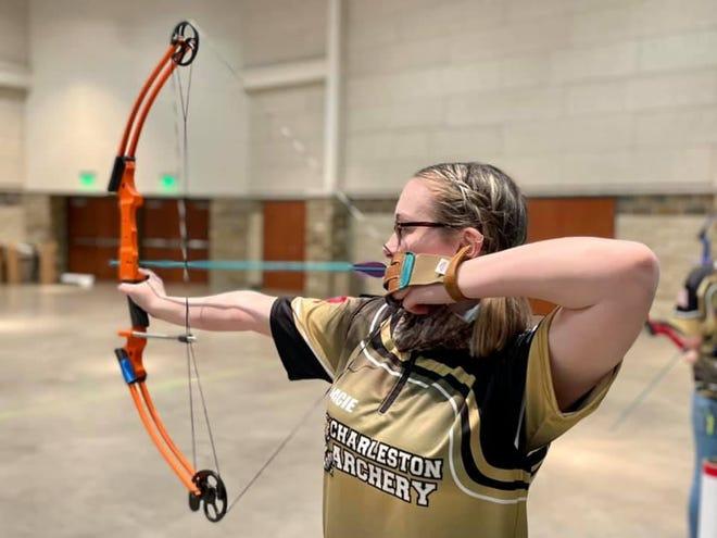 Charleston High School senior Gracie Berry placed third at the Arkansas National Archery in the Schools Program regional tournament.