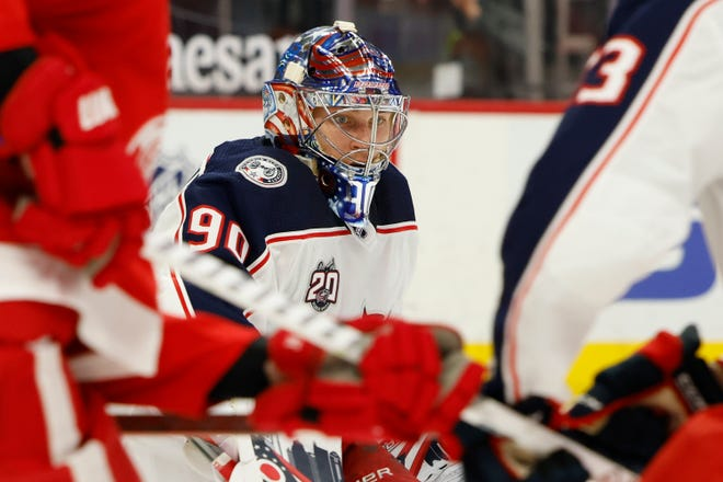 Blue Jackets goaltender Elvis Merzlikins made back-to-back starts within 24 hours this past weekend in Detroit and mostly was solid in net in the two losses.