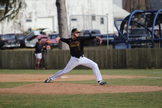 Brody Sorenson and the Minnesota Crookston baseball team held Upper Iowa to eight hits and one run in Sunday's doubleheader sweep.