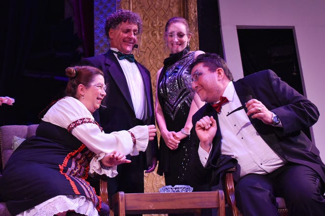 """A scene from the play """"Rumors"""", a Neil Simon farce set to open Friday at the State Theatre Eustis."""