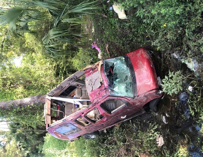 Florida Highway Patrol investigators said Monday the van that rolled over on I-95 near Ormond Beach was overcrowded. The van was built with seating for seven people but had 10 occupants at the time of the crash, troopers said.