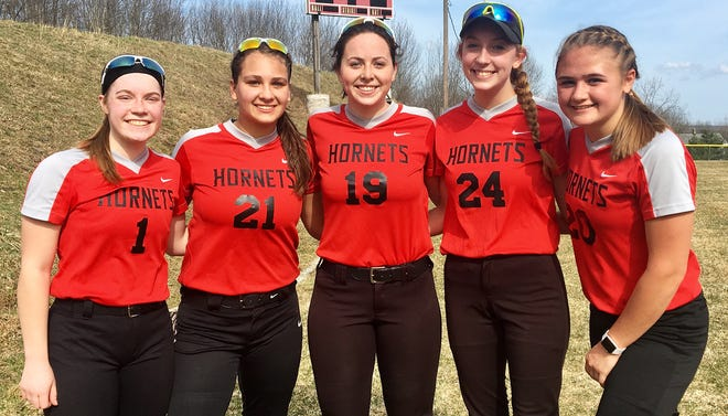 These five seniors will provide leadership for Honesdale's varsity softball team in Lackawanna League action this spring. Rachel Daub, Gina Dell'Aquila, Grace Maxson, Katie Grund and Sarah Meyer hope to spark another deep post season run for the Lady Hornets at districts and even states.