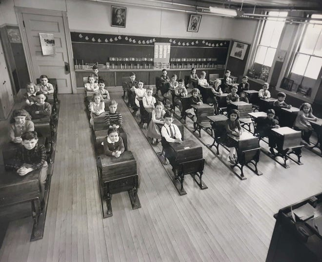 This photo taken in 1947 shows a rare glimpse into the inside of St. Martin's Academy in Somersworth.