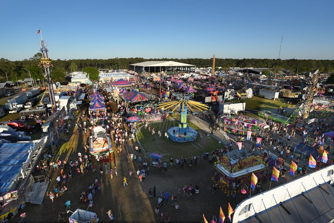 The Clay County Fair, with more than 40 rides, runs through April 11 at the fairgrounds west of Green Cove Springs.