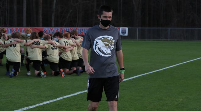 Croatan's Paul Slater was named the N.C. Soccer Coaches Association 2-A soccer coach of the year. [Tina Brooks / The Daily News]